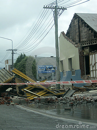Earthquake damage Editorial Photography