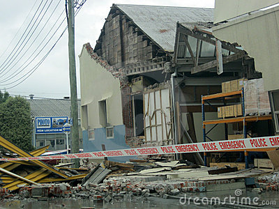 Earthquake damage Editorial Stock Image