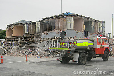 Earthquake damage Editorial Image