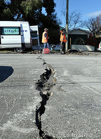 Earthquake Damage, Christchurch New Zealand Editorial Photography