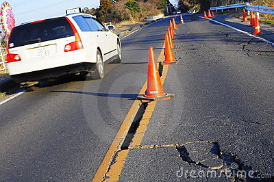 Earthquake in Japan 11th March 2011 Editorial Stock Photo