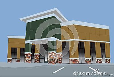 Earthtone pastel commercial mall