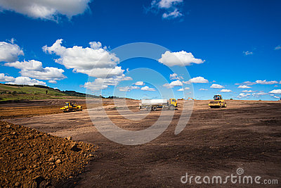 Earthworks Industrial Construction Editorial Stock Photo