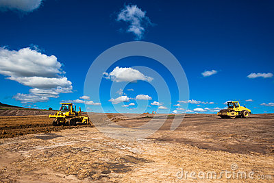 Earthworks Infrastructure Construction Editorial Photography
