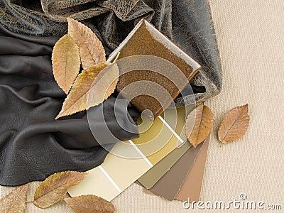 Earthy brownish interior design plan