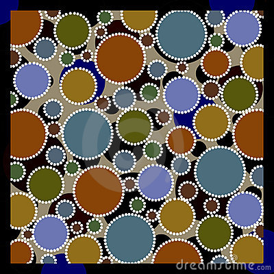 Earthy colored circles