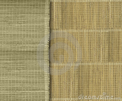 Earthy green and yellow bamboo strips