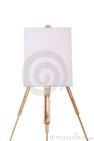 Stock Images: Easel with canvas. Image: 17289484