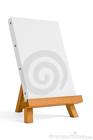 Free Easel For Artist. Tripod For Painting. Royalty Free Stock Image - 18982626