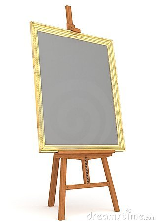 easel with frame isolated
