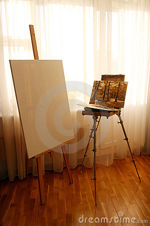 Easel in interior