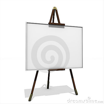 Free Easel Painter Tripod Royalty Free Stock Images - 13751389