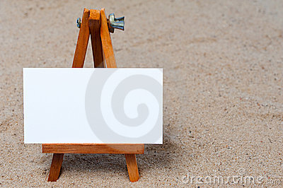 Easel in the sand