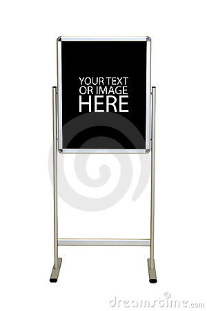 Free Easel Stand Sign Royalty Free Stock Image - 5478316