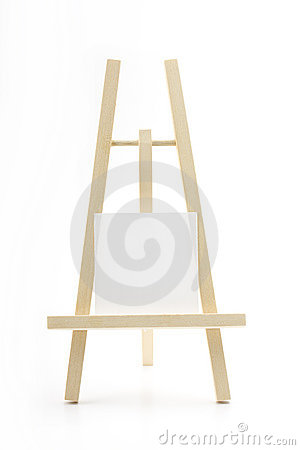 Free Easel With Blank Memo O Stock Photography - 6332862
