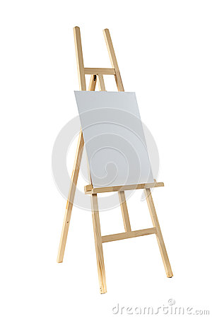 Free Easel With Canvas Stock Image - 30651051