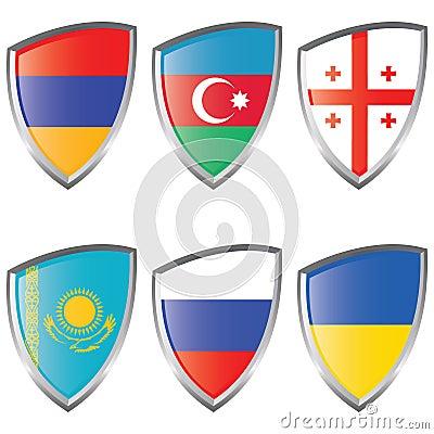 East 1 Europe Shield Flag