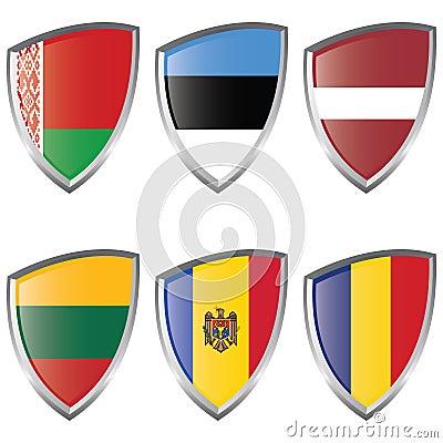 East 2 Europe Shield Flag