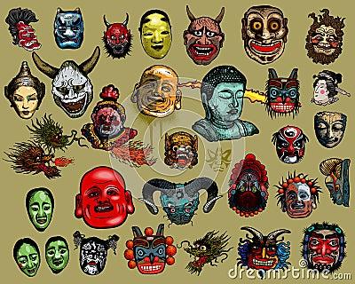 East-Asian masks