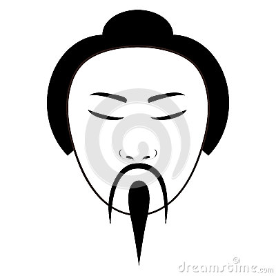 East asian traditional man icon image Vector Illustration
