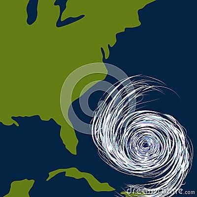 East Coast Hurricane Drawing