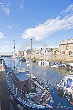 East Coast Trail: Burghead Harbor. Editorial Image