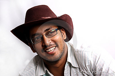 East Indian Cowboy Stock Image Image Of White Specs