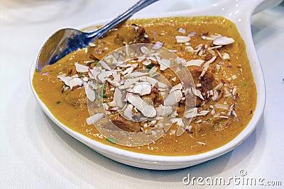 East Indian Food Lamb Korma Curry
