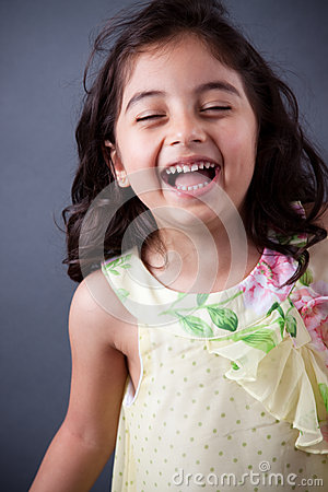 Free East Indian Girl Laughing Stock Photography - 28729952