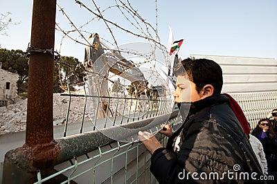 East Jerusalem Protest Editorial Stock Photo