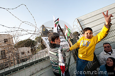 East Jerusalem Protest Editorial Stock Image