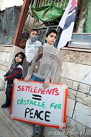 East Jerusalem Protest Editorial Image