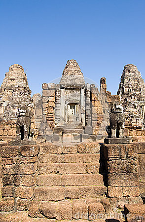 East Mebon temple steps, Angkor, Cambodia