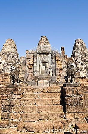 East Mebon temple steps, Angkor, Cambodia
