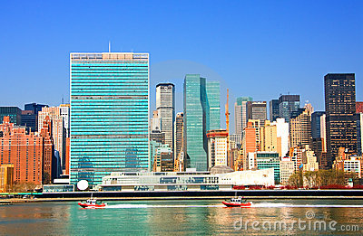 East River and United Nations Building