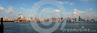 East River View of Manhattan NYC USA