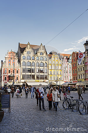East Side of the Market Square, Wroclaw Editorial Image