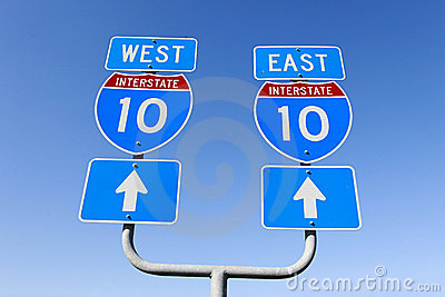 East west decision on major interstate in the us