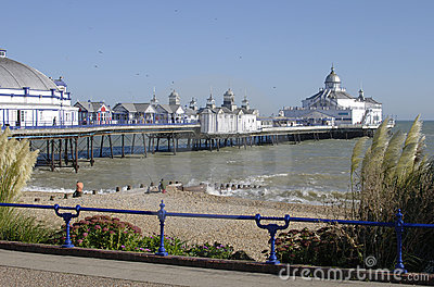 Eastbourne beach and pier. East Sussex.UK