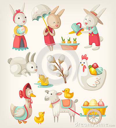 Free Easter Animals Stock Images - 51591594