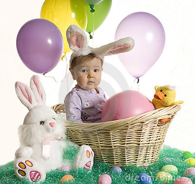 Free Easter Baby Royalty Free Stock Photography - 4892147