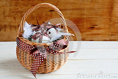 Easter background with basket
