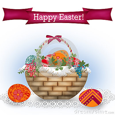 Easter card background with text