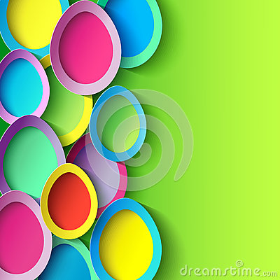 Free Easter Background With Colorful 3d Easter Egg Royalty Free Stock Images - 39246929