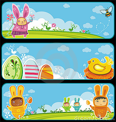 Free Easter Banners Royalty Free Stock Image - 18980886