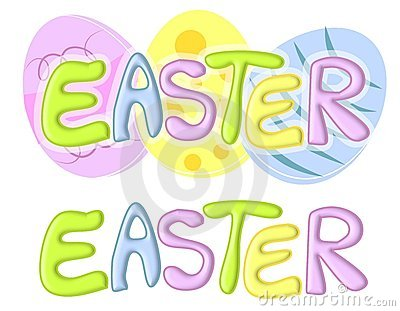 Easter Banners or Logos With Eggs