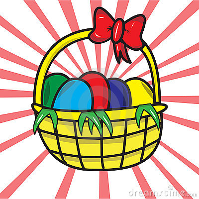 Easter Basket Royalty Free Stock Image - Image: 19221266