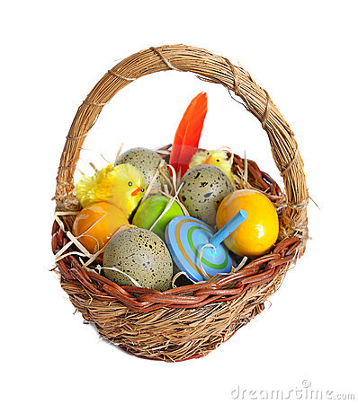 Free Easter Basket Royalty Free Stock Photography - 22849657