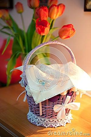 Free Easter Basket Royalty Free Stock Photo - 23190755