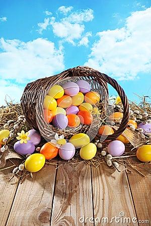 Free Easter Basket Stock Photo - 52591670